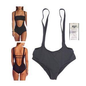 Billabong black suspender swimsuit